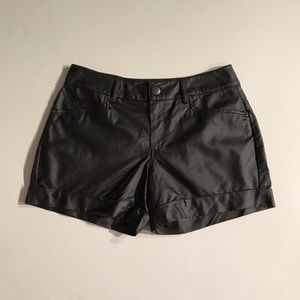 Bcbg generation Faux leather perforated shorts